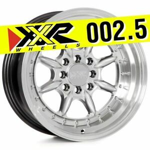 Xxr 002 5 15x8 4x100 4x114 3 0 Hyper Silver Wheels Set Of 4