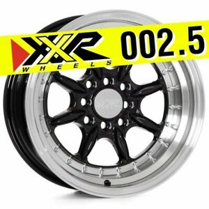 Xxr 002 5 16x8 4x100 4x114 3 20 Gloss Black Wheels set Of 4