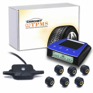 Carchet Wireless Rv Tire Pressure Monitor System Tpms 6 Sensors Signal Repeater