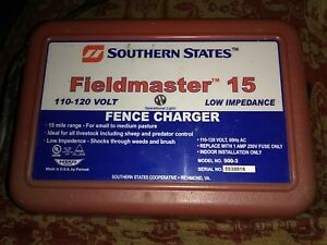Parmak Electric Fence Charger Fieldmaster 15 110 120 Volt 15 Mile
