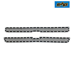 Eag 1999 2002 Chevy Silverado 1500 Front Mesh Grille With Rivet Black Textured