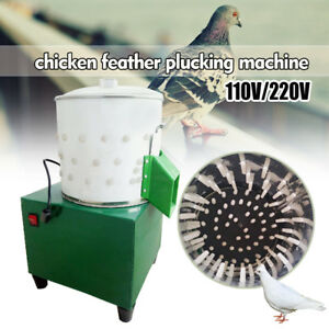 Us 220v Small Chicken Feather Plucking Machine Poultry Plucker Birds Depilator