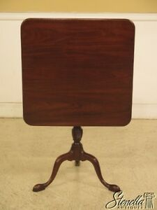 L43945ec Kittinger Cw 69 Colonial Williamsburg Mahogany Tilt Top Table