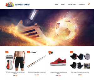 Sports Shop Turnkey Website Business For Sale Profitable Dropshipping