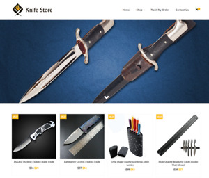 Established Knife Turnkey Website Business For Sale Profitable Dropshipping