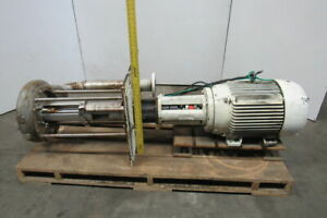 Gusher Tcl3x4 13sel 12 c b 40hp Stainless Steel Vertical Centrifugal Pump 600gpm