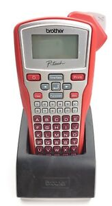 Brother P touch Portable Labeler Pt 1010r Red Label Maker Printer
