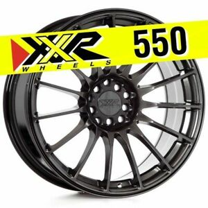 Xxr 550 18x8 75 5x100 5x114 3 36 Chromium Black Wheels Set Of 4