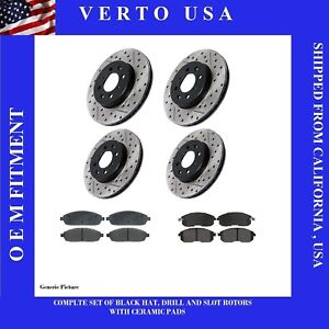Front Rear Brake Rotors Brake Pads For Nissan Altima 2002 2003 2004 2005 2006
