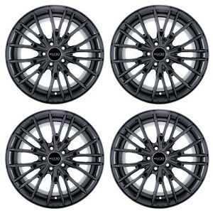 18x8 Kudo Racing Menace 5x114 3 40mm Gloss Black Wheels Rims New Set 4