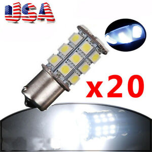 20pcs S25 Ba15s 1156 7506 1003 1141 Led 5050 27smd Tail Turn Light Bulbs 12v Dc