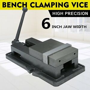 6 Lock Vise Milling Drilling Machine Bench Clamp Clamping Vice Precision Set