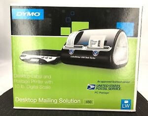 New Dymo Desktop Mailing Solution Labelwriter 450 Twin Turbo And Scale Open Box
