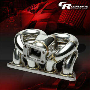 T3 Cast Stainless Ram Horn Racing Turbo Charger Manifold Kit For Honda D Series