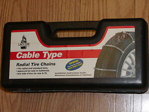 Snow Tire Cable Chains Laclede 1026 225 40r14 205 50r15 205 35zr18