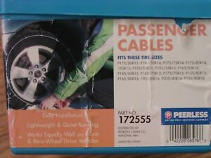 Snow Tire Cable Chains Peerless 172555 165 80 15 195 50 16 205 40 16 155 80 16