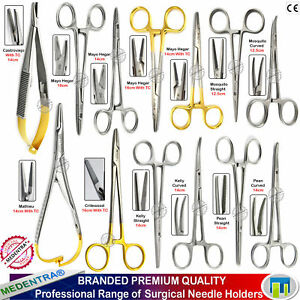 Dental Suture Practice training Forceps Needle Holders Tc Small Animal Vets Kit