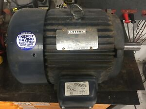 7 5 Hp 3490 Rpm 213t 208 230 460v Leeson Electric Motor 150158 50 3 Phase