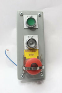 Push Button Assembly Stop Start Emergency Stop Cover Plate Only