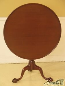 L44071ec Kittinger Cw 70 Colonial Williamsburg Mahogany Clawfoot Tilt Top Table
