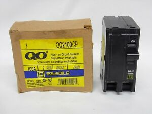 Square D Homeline 100a 2p 120 240v Plug On Circuit Breaker Qo2100cp