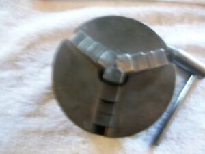 4 1 4 Cushman 3 Jaw Dependent Chuck From Vintage Shepherd 10 Metal Lathe