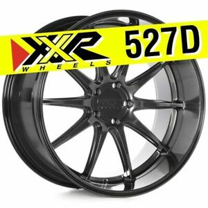 Xxr 527d 20x10 5 5 114 3 20 Chromium Black Wheels Rims set Of 4 Deep Lip