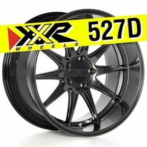 Xxr 527d 18x10 5 5 114 3 20 Chromium Black Wheels Rims set Of 4 Deep Lip