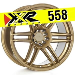 Xxr 558 18x9 75 5 100 5 114 3 19 Gold Wheels Rim Set Of 4 Fits Mitsubishi Evo