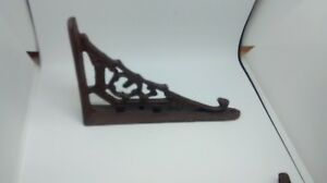 4 Small Cast Iron Antique Style Art Deco Brackets 4 T X5 3 4 From Wall