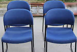 4 Blue Hon Stack Chair W painted Legs h403121 1 2 21 Copolymer Resin Seat