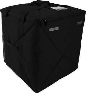 Case Of 2 Ovenhot Black Large Top Loading Delivery Bag Holds 16 18 Pizzas New