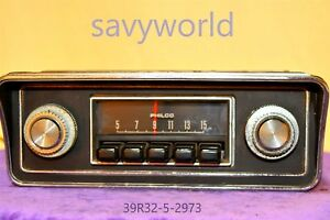 Old Philco Classic Retro Original Car Dash Radio Factory Audio