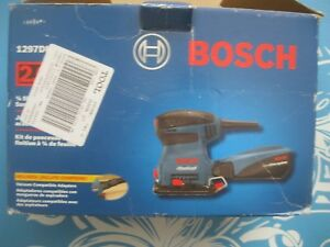 Bosch 1297DK  FINISHING  Palm Sander-HARDLY USED ON 1 CHEST OF4 DRAWER PROJECT