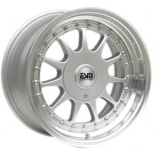 16x8 Silver 16 Esm 003r Wheels 5x112 Vw Audi Mercedes Golf Jetta