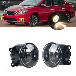 For 2007 2012 Nissan Sentra Se R Se R Spec V Led Fog Light Lamp Kit W Bulb Pair