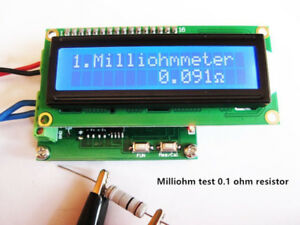 Milliohm Meter Low Resistance Tester Ohmmeter Measuring Resistance Value