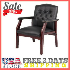 Reception Chairs For Office Guest Conference Room Waiting Desk Upholstered Black