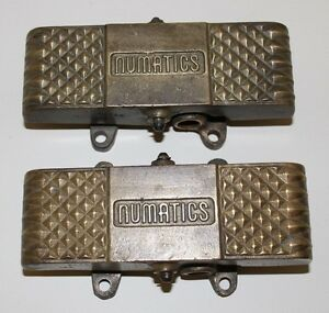Numatics Solid Brass Heavy 2 Way Foot Air Pedals Set Of 2 Vintage