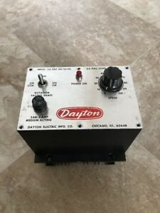 Dayton Adjustable Speed Dc Motor Control 115vac 4 0 Full Load Amps