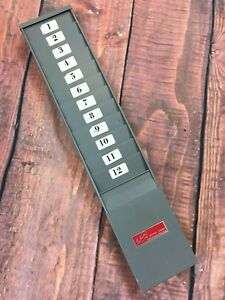 Lathem Vintage Retro 70s 12 slot Heavy Duty Time Recorder Card Holder Atlanta Ga