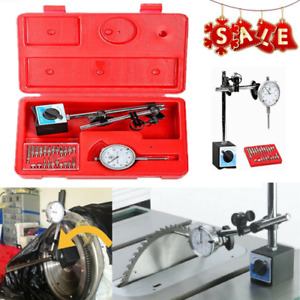 2 In 1 Dial Indicator Magnetic Base Point Precision Inspection Set New He