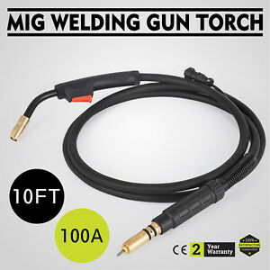 100amp 10ft Mig Welding Gun Torch Stinger Replacement For Miller M 10 M 100