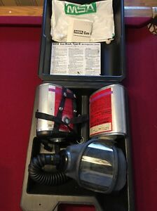Msa Gas Mask Type N In Case W 2 Canisters Complete Set Awesome