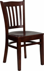 Classico Chair Commercial Restaurant Wood Chairs Bar Cafe Cushion Vertical Slat