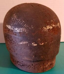 Antique Millinery Haberdashery Wood Hat Block Mold Form