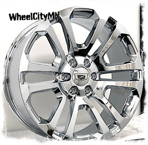 20 Inch Chrome 2015 2016 Ck158 Cadillac Escalade Oe Replica Wheels 6x5 5 31
