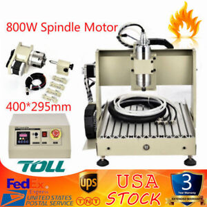 4 Axis Cnc 3040 Router Engraver Wood Cutter Machine Carving Milling Machine 800w