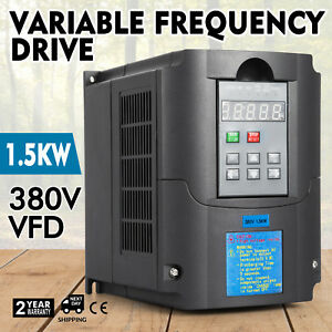 2hp 1 5kw 380v Variable Frequency Drive Vfd Single Phase Inverter Speed New