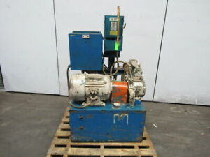 5hp 30 Gallon Hydraulic Power Unit station W racine 2fa Pump Valves 460v